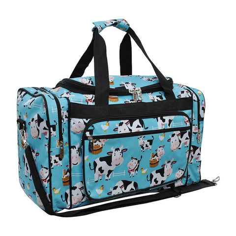"Cow in Town NGIL Canvas 20"" Duffle Bag"