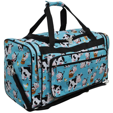 "Cow in Town NGIL Canvas 23"" Duffle Bag"