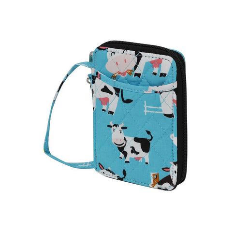 Cow in Town NGIL Quilted Wristlet Wallet