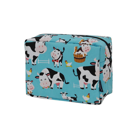 Cosmetic bags in bulk, best women's makeup bag, makeup pouch for school, makeup bag gifts for women, makeup organizer case, cosmetic bag for bride, travel bags gift, cow cosmetic case