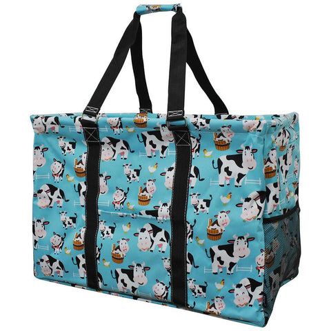 Cow In Town NGIL Mega Shopping Utility Tote Bag