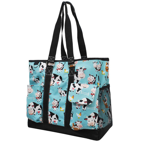 Cow In Town NGIL Tall Canvas Tote Bag