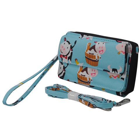 Cow in Town NGIL Canvas All In One Wallet