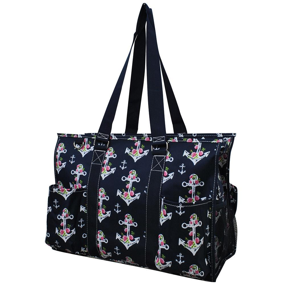 Rose Anchor NGIL Zippered Caddy Large Organizer Tote Bag
