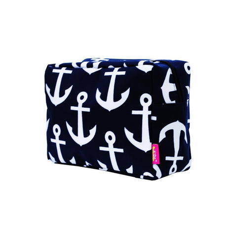Cosmetic bags in bulk, best women's makeup bag, makeup pouch for school, makeup bag gifts for women, makeup organizer case, cosmetic bag for bride, travel bags gift, anchor makeup case,