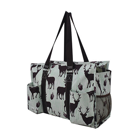 Forest Deer Zippered Caddy Organizer Tote Bag