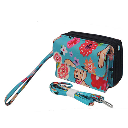 Floral Puppy NGIL Canvas All in One  Wallet