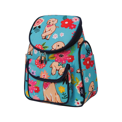 Floral Puppy NGIL Canvas Mini Backpack