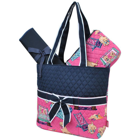 Happy Beach Day NGIL Quilted 3pcs Diaper Bag