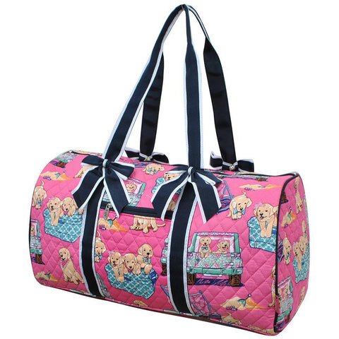 Happy Beach Day NGIL Quilted Large Duffle Bag