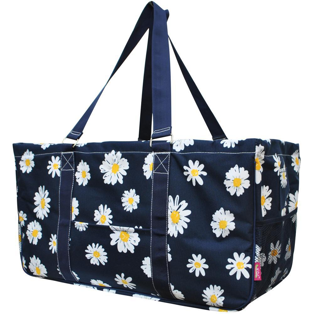 NGIL, Monogram gifts for her, monogram tote for teachers, personalized tote, teacher gifts, daisy utilities, daisy tote, daisy fields tote bags