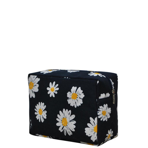 Cosmetic bags in bulk, best women's makeup bag, makeup pouch for school, makeup bag gifts for women, makeup organizer case, cosmetic bag for bride, travel bags gift, daisy makeup bag, daisy flower bags