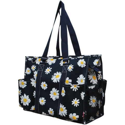 Daisy NGIL Zippered Caddy Large Organizer Tote Bag
