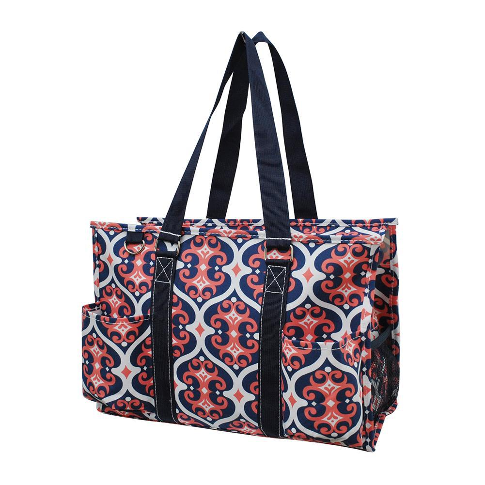 NGIL Brand, Personalized Travel Bag, monogram gift ideas, personalized accessories for mom, nurse tote organizer wholesale, gifts for mom, classy bag, vine pattern, pattern tote bag for her.