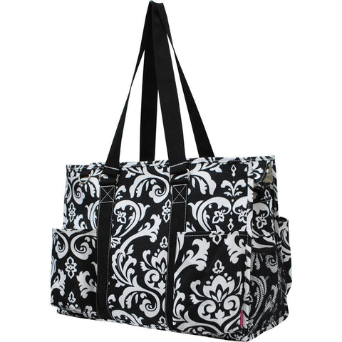 Damask NGIL Zippered Caddy Large Organizer Tote Bag
