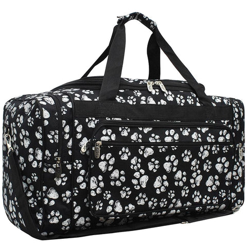 "Puppy Paw Print NGIL Canvas 23"" Duffle Bag"