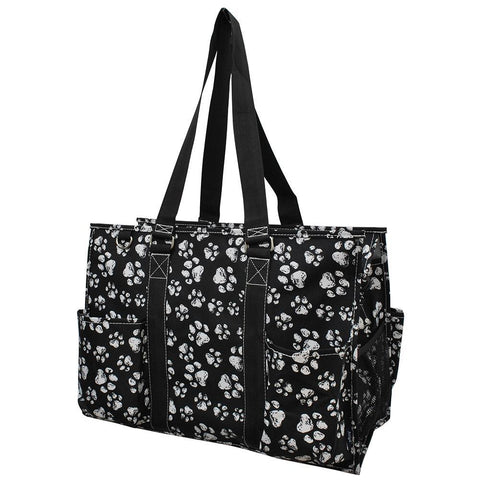 Puppy Paw Print NGIL Zippered Caddy Large Organizer Tote Bag