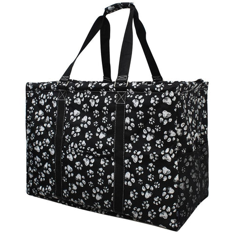 Puppy Paw Print NGIL Mega Shopping Utility Tote Bag