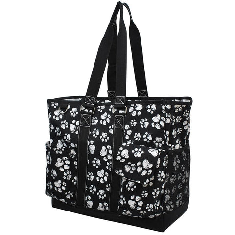 Puppy Paw Print NGIL Tall Canvas Tote Bag