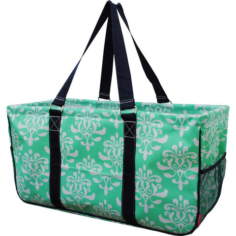 Shabby Damask Mint NGIL Utility Bag