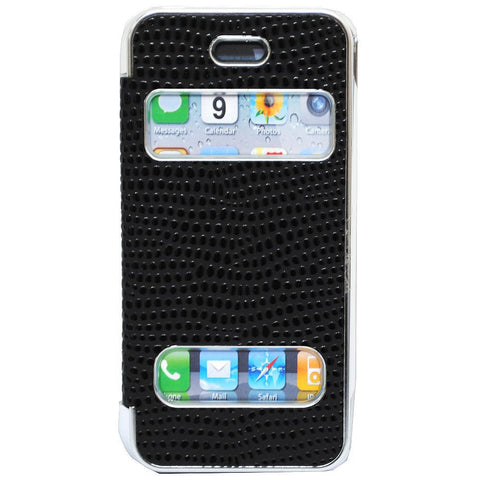 Pati Black PVC Smartphone Case For iPhone 5
