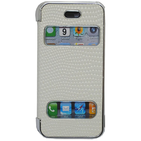 Pati White PVC Smartphone Case For iPhone 5