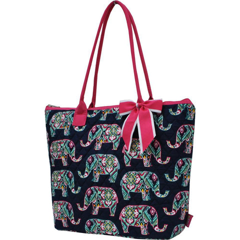 Elephant NGIL Quilted Tote Bag