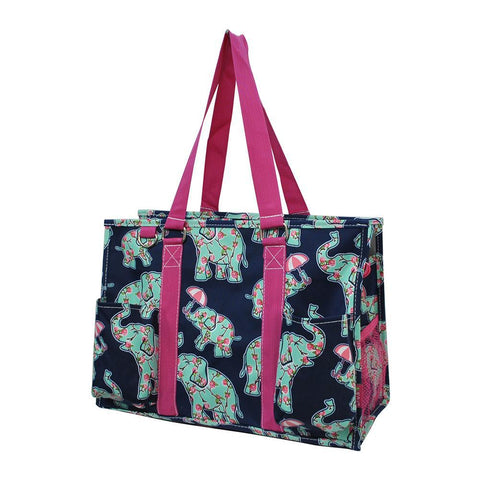 Baby Elephant Hot Pink NGIL Zippered Caddy Organizer Tote Bag