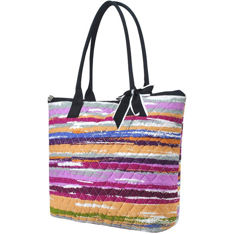 Stripes NGIL Quilted Tote Bag