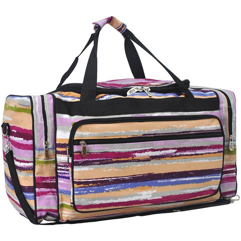 Gym Bag Sports Holdall Pink Unicorn On A Rainbow Canvas Shoulder Bag Overnight Travel Bag for Men and Women