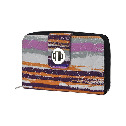 Stripes NGIL Quilted Twist Lock Wallet