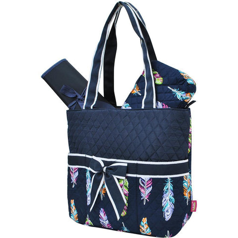 SALE ! Feather NGIL Quilted 3pcs Diaper Bag