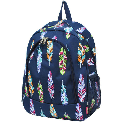 canvas backpack, feather print backpack, feather pattern backpack, monogram backpack purse for women, personalize backpack for child, cute backpack for school, PTA fundraising bags, monogram gift ideas, monogram backpack for toddlers, monogram backpack for toddler.