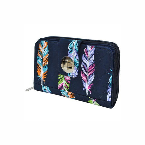 Feather NGIL Quilted Twist Lock Wallet