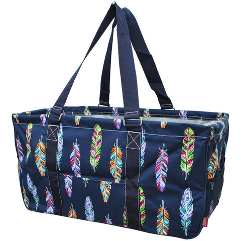Multi Color Feather Navy NGIL Utility Bag