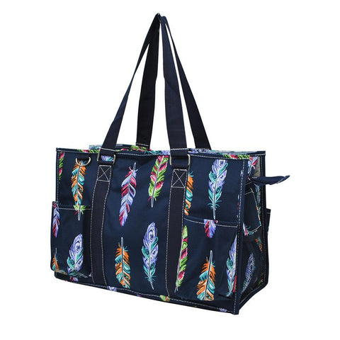 Feather NGIL Zippered Caddy Organizer Tote Bag