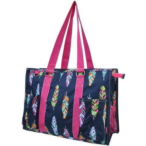 Feather NGIL Zippered Caddy Large Organizer Tote Bag