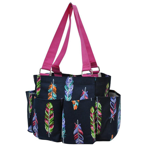 Multi Color Feather NGIL Small Utility Tote