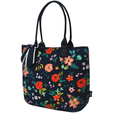 Floral Print NGIL Quilted Tote Bag