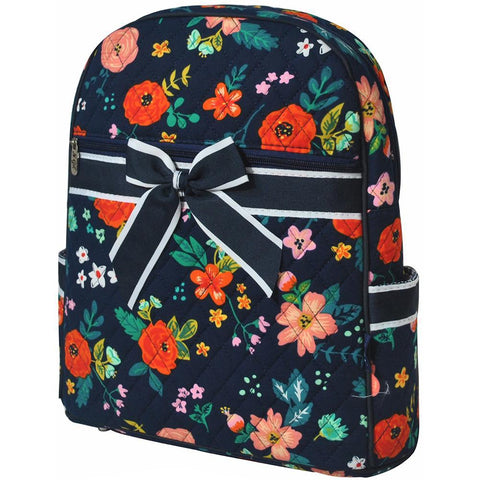 Floral Print NGIL Quilted Backpack