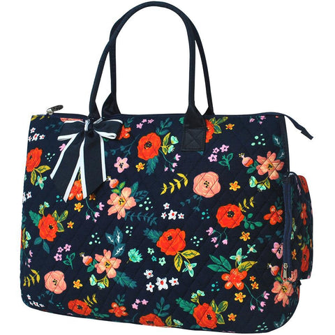 Floral Print NGIL Quilted Overnight Tote Bag