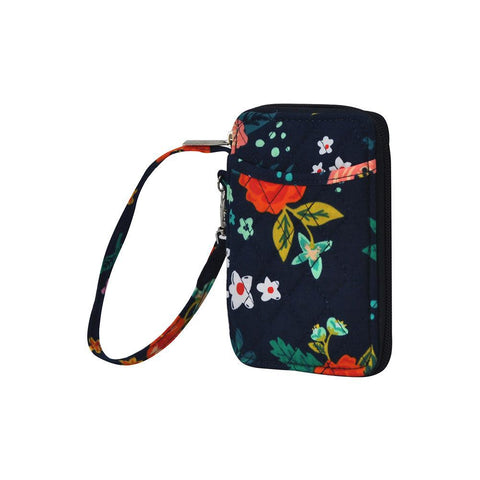 Floral Print NGIL Quilted Wristlet Wallet