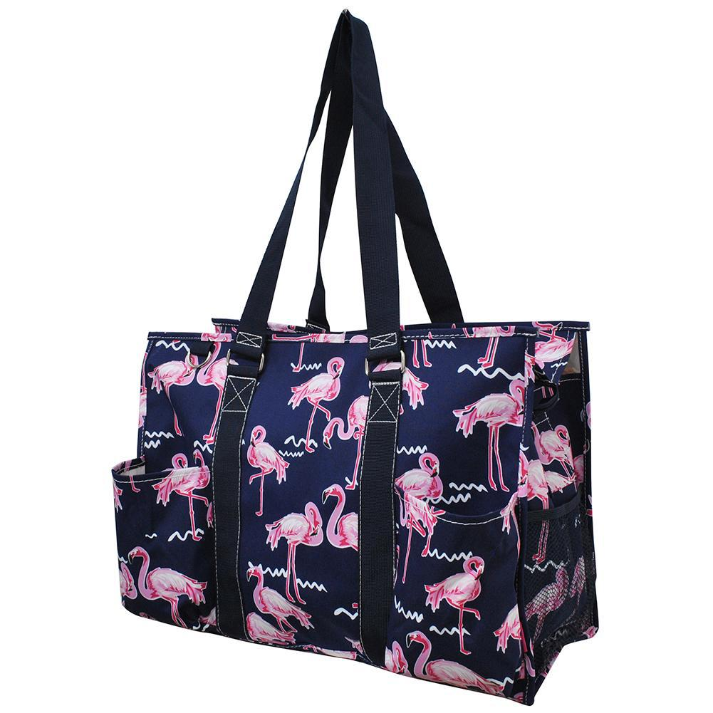 Flamingo NGIL Zippered Caddy Large Organizer Tote Bag - MOMMYWHOLESALE COM