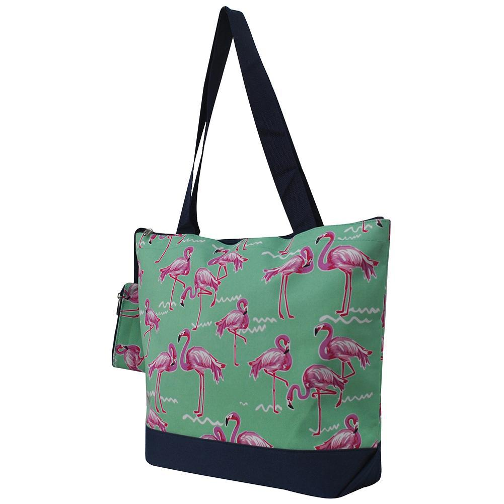 Flamingo Print NGIL Canvas Tote Bag