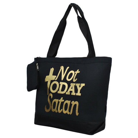 Not Today Satan NGIL Canvas Tote Bag