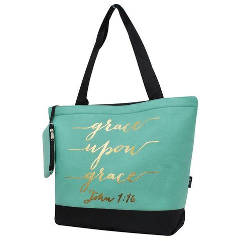 Monogrammed Zippered Tote Bag, monogram gifts for her, Monogram bags and tote, Gifts for her, monogram gifts, NGIL Brand, custom tote bags with zipper, wholesale tote bags with zipper, cute zipper tote, mint zipper tote bag, nice tote bags for school.