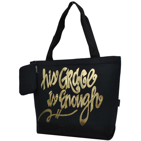 His Grace is Enough NGIL Canvas Tote Bag