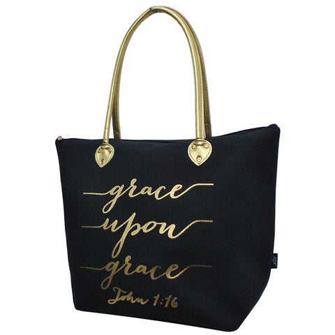 Tote for women zipper, navy grace tote bag, navy religious tote, monogram tote bags in bulk, tote bags, monogram bags totes, monogram tote for women, monogram NGIL Brand, monogram travel accessories, monogram tote for women zipper, ngil utility tote,