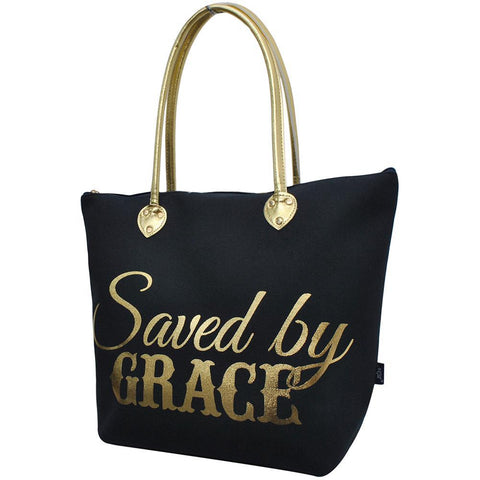 Saved by Grace NGIL Gold Collection Tote Bag
