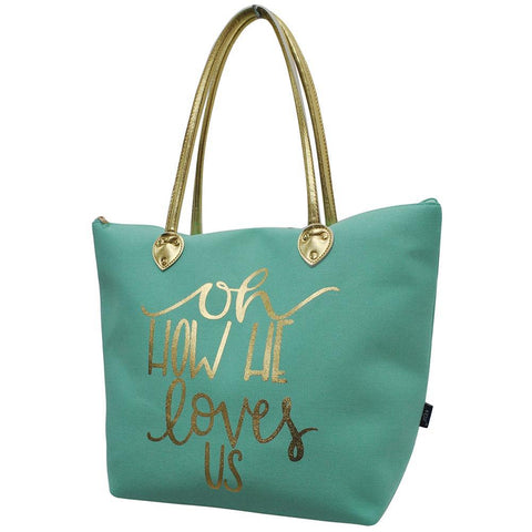 How he Loves Us NGIL Gold Collection Tote Bag